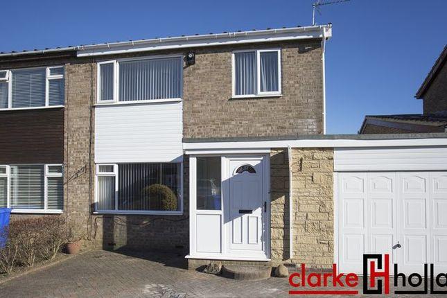 Thumbnail Semi-detached house for sale in Kirton Way, Cramlington