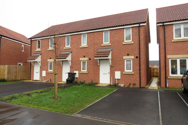 Thumbnail End terrace house for sale in Pippin Road, Bathpool, Taunton