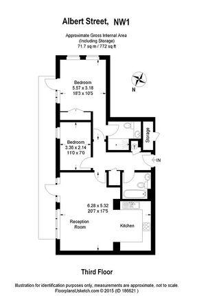 Floor Plan of Albert Street, Camden NW1