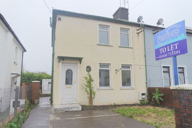 Thumbnail Semi-detached house to rent in Heol Ynysawdre, Sarn, Bridgend