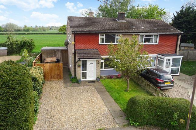 Thumbnail Semi-detached house for sale in Bell Close, Cublington, Leighton Buzzard
