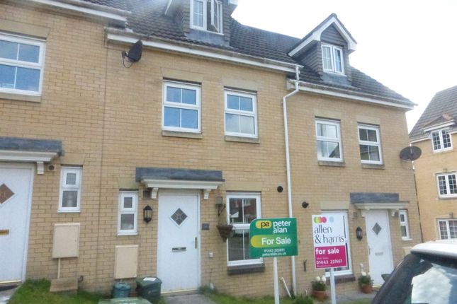 Thumbnail Terraced house for sale in St Davids Heights, Miskin, Pontyclun