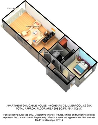 Floor Plan of Cheapside, Liverpool L2