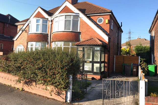 Thumbnail Semi-detached house to rent in Victoria Ave East, Blackley