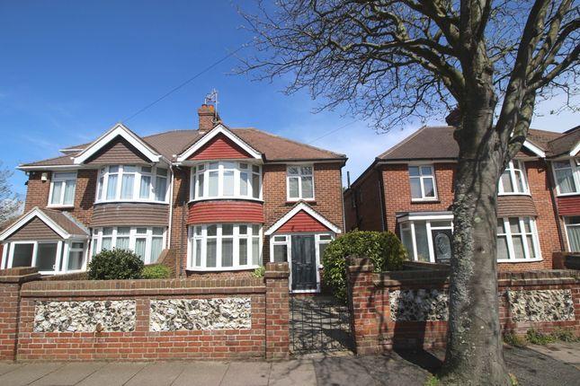 Thumbnail Semi-detached house for sale in Hunloke Avenue, Roselands, Eastbourne