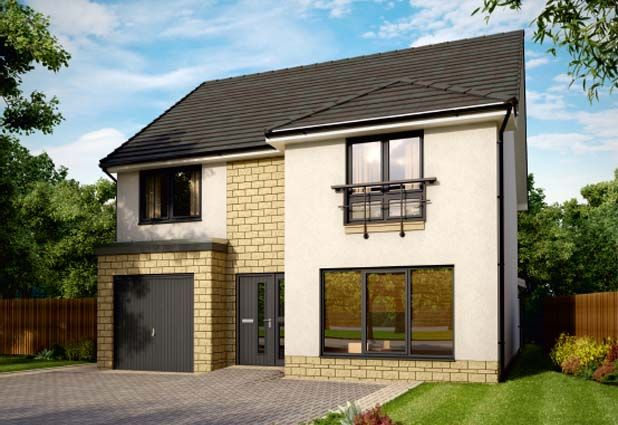 Thumbnail Detached house for sale in Plot 88, The Ivory, Fair Acres At Bowmont Terrace, Dunbar
