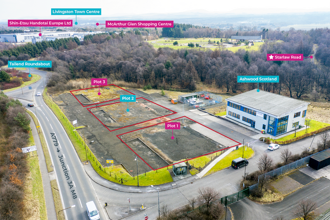 Thumbnail Land for sale in Tailend Court, Starlaw Park, Livingston