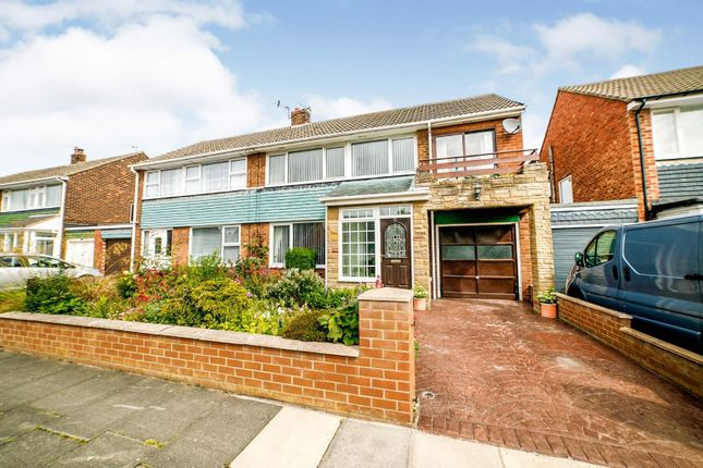 Thumbnail Semi-detached house for sale in Hampton Road, North Shields, Tyne And Wear