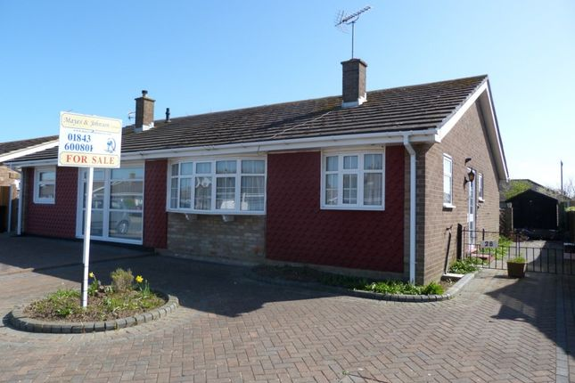 Thumbnail Semi-detached bungalow for sale in Marshall Crescent, Broadstairs