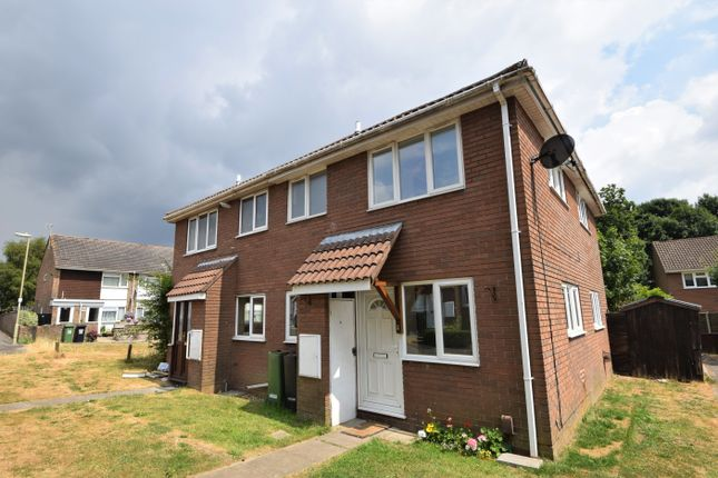 Thumbnail End terrace house to rent in Abraham Close, Botley, Southampton