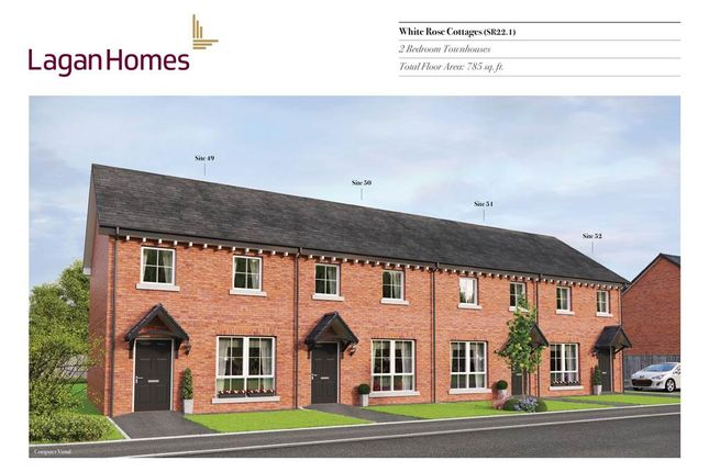 Thumbnail Town house for sale in 49, Windrush Park, Antrim