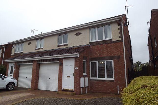 Thumbnail Semi-detached house to rent in Alverton Drive, Faverdale, Darlington