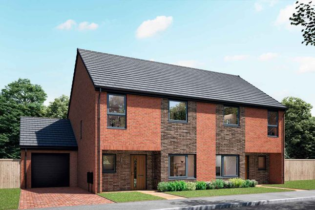 """Thumbnail Semi-detached house for sale in """"The Delaval"""" at Sherburn Green, Rowlands Gill"""