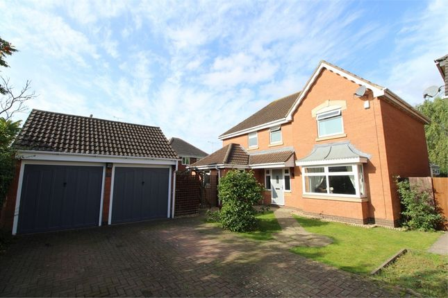 Thumbnail Detached house for sale in Honeysuckle Close, Lutterworth