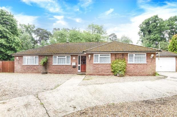 Thumbnail Detached bungalow for sale in The Street, Crookham Village, Fleet