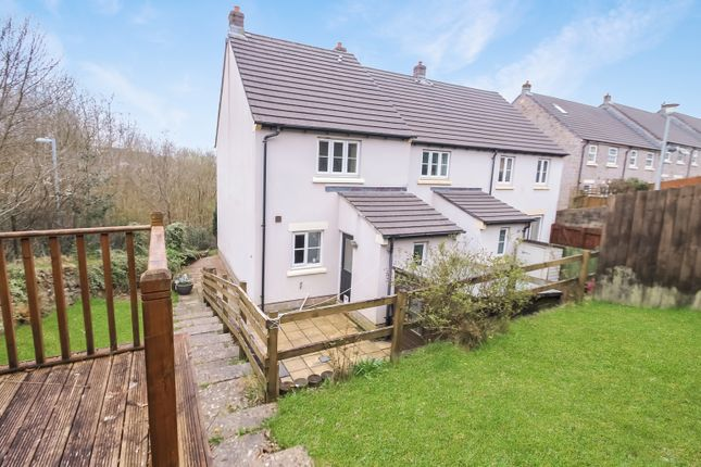 Thumbnail End terrace house for sale in The Gallops, Pillmere, Saltash