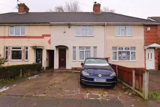 Thumbnail Terraced house to rent in Wandsworth Road, Birmingham