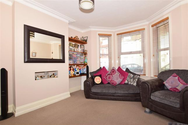 Thumbnail Semi-detached house for sale in Linden Crescent, Folkestone, Kent