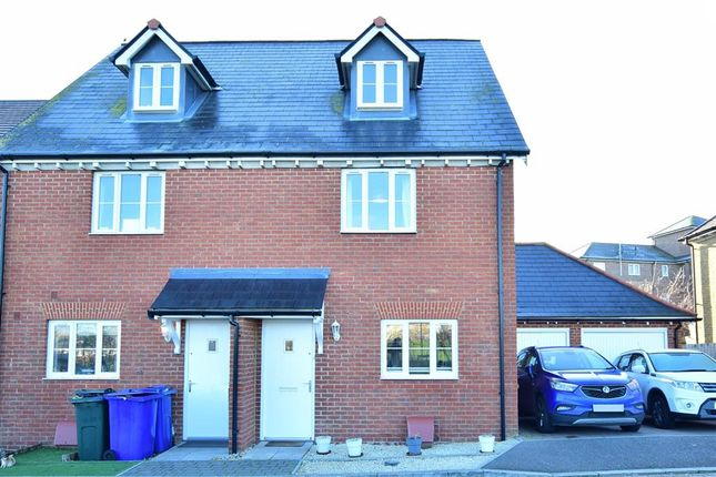 3 bed semi-detached house for sale in Red Admiral Crescent, Iwade, Sittingbourne, Kent ME9