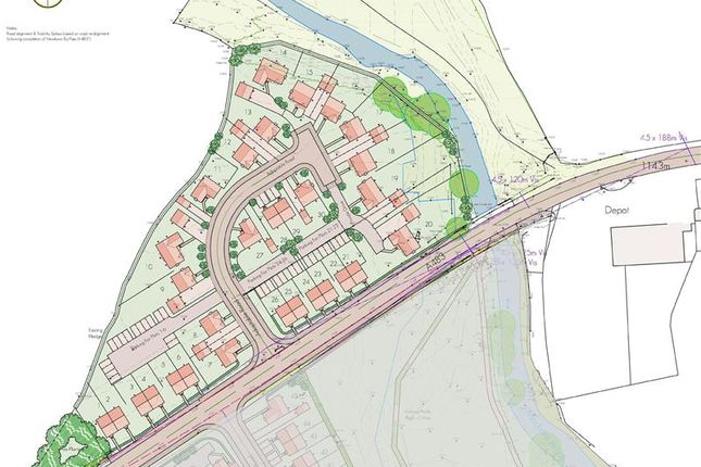 Thumbnail Land for sale in Residential Development Opportunity, Land For Sale, Llanidloes Road, Newtown, Powys