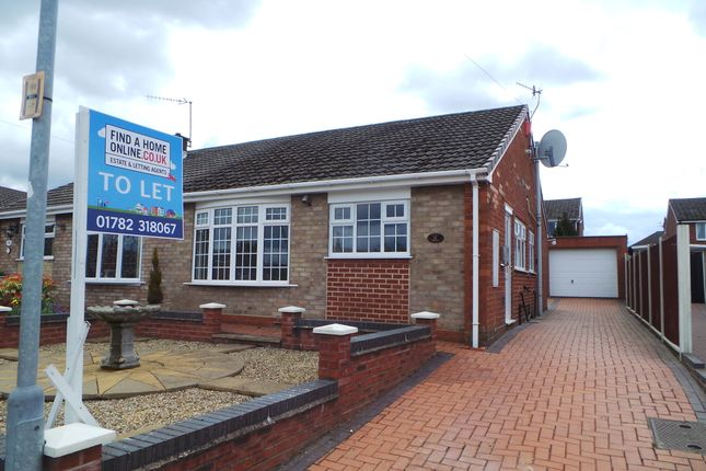 Thumbnail Semi-detached bungalow to rent in Rugby Drive, Dresden, Stoke-On-Trent