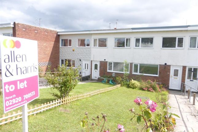Thumbnail Terraced house to rent in Uplands Crescent, Llandough, Penarth