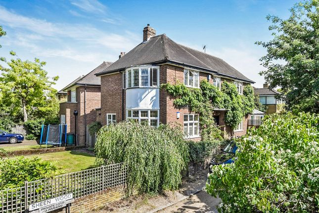 Thumbnail Detached house for sale in Sheen Wood, London