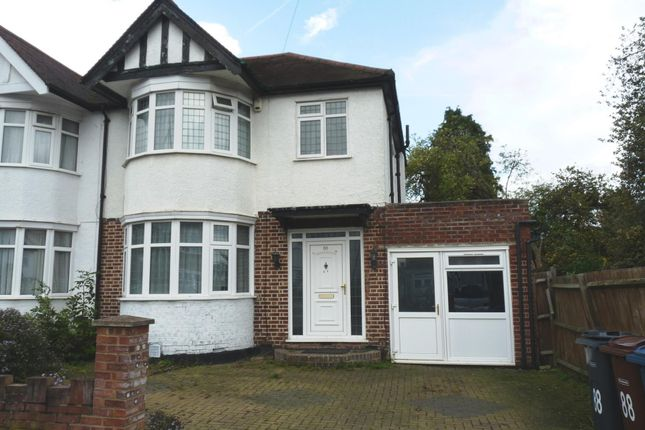 Thumbnail 3 bed semi-detached house to rent in Kingshill Drive, Kenton