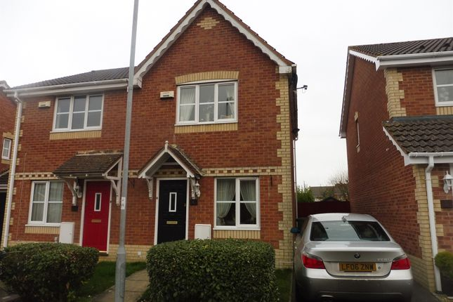 Thumbnail Semi-detached house for sale in Walwyn Place, St. Mellons, Cardiff