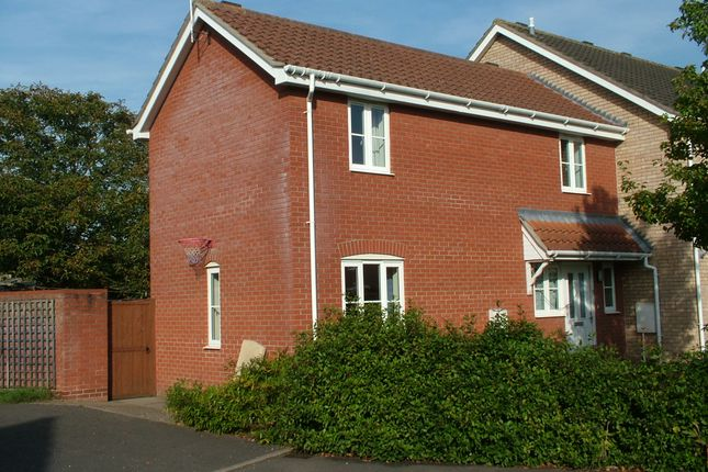 Thumbnail End terrace house for sale in Poplar Close, Long Stratton, Norwich