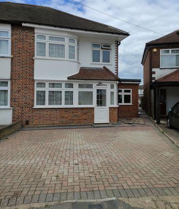 Thumbnail Semi-detached house to rent in Bideford Close, Edgware