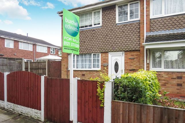 Thumbnail End terrace house for sale in Alwynn Walk, Erdington, Birmingham