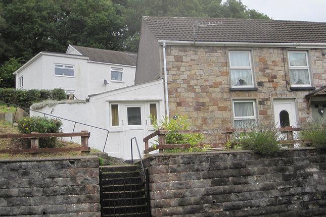 Thumbnail Semi-detached house for sale in Heol Gleien, Upper Cwmtwrch, Swansea.