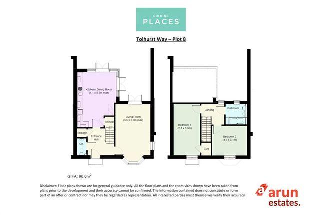 Thumbnail Terraced house for sale in Tolhurst Way, Lenham, Maidstone, Kent
