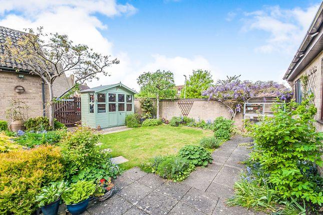 Thumbnail Detached bungalow for sale in Sondes Close, Oundle, Peterborough