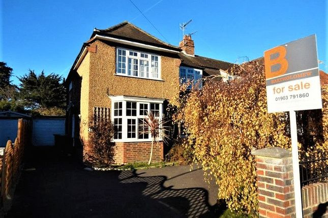 Thumbnail Semi-detached house for sale in Offington Drive, Broadwater, Worthing