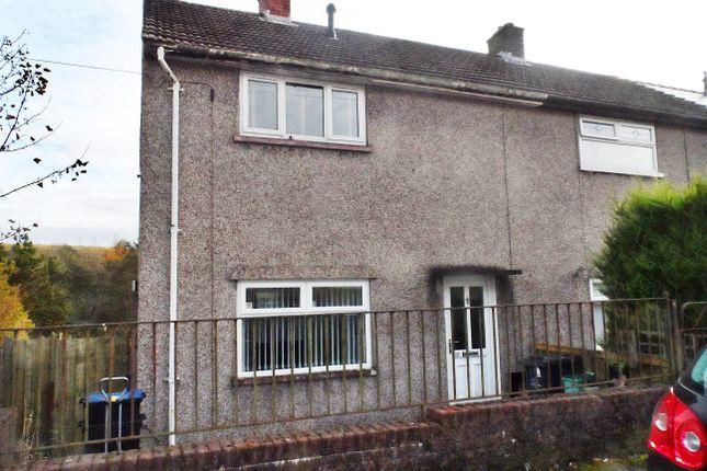 Thumbnail End terrace house to rent in Prince Phillip Avenue, Garnlydan, Ebbw Vale