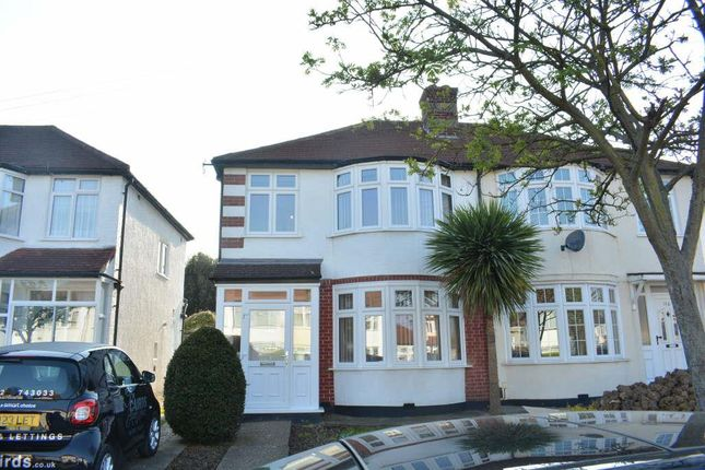 Thumbnail Semi-detached house to rent in Marlow Drive, North Cheam, Sutton