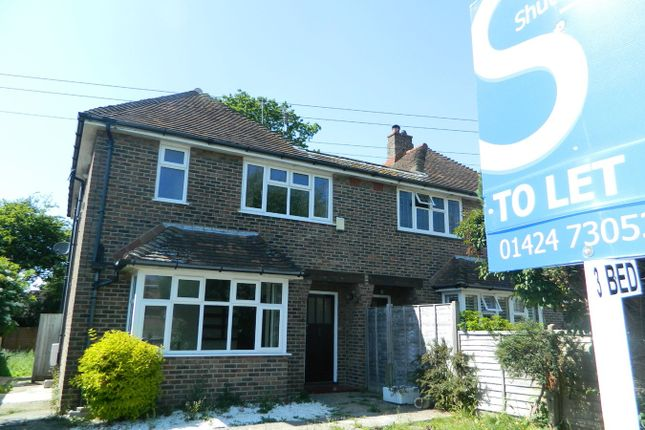Thumbnail Semi-detached house to rent in Peartree Lane, Bexhill-On-Sea