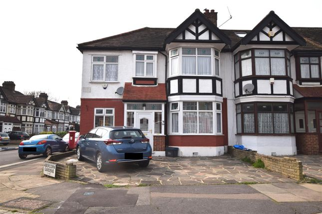 Thumbnail End terrace house for sale in Abercorn Gardens, Chadwell Heath, Romford