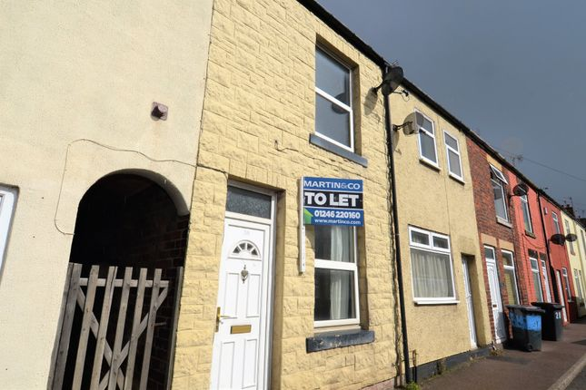 Thumbnail Terraced house to rent in Barlborough Road, Clowne, Derbyshire