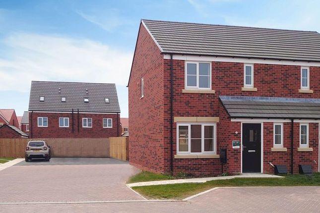 Thumbnail Semi-detached house to rent in Morton Close, Hampton Gardens, Peterborough
