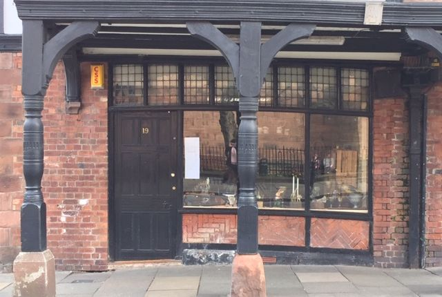 Retail premises to let in St Werburgh Street, Chester