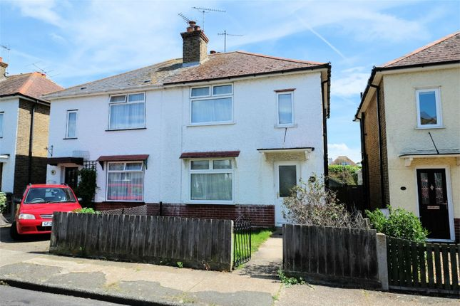 Thumbnail Semi-detached house for sale in Fitzroy Road, Tankerton, Whitstable, Kent