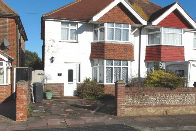 Thumbnail Semi Detached House To Rent In Hunloke Avenue Eastbourne