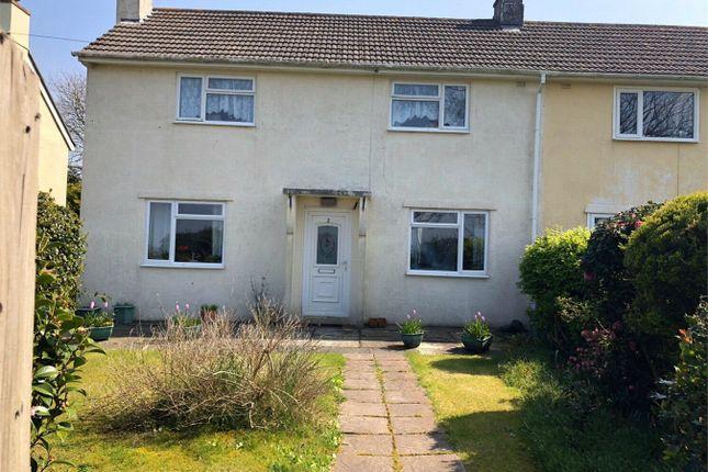 Thumbnail Semi-detached house for sale in Treworga, Ruan High Lanes, Truro, Cornwall