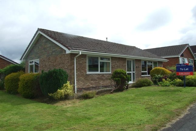 Thumbnail Detached bungalow to rent in Holcombe Drive, Llandrindod Wells