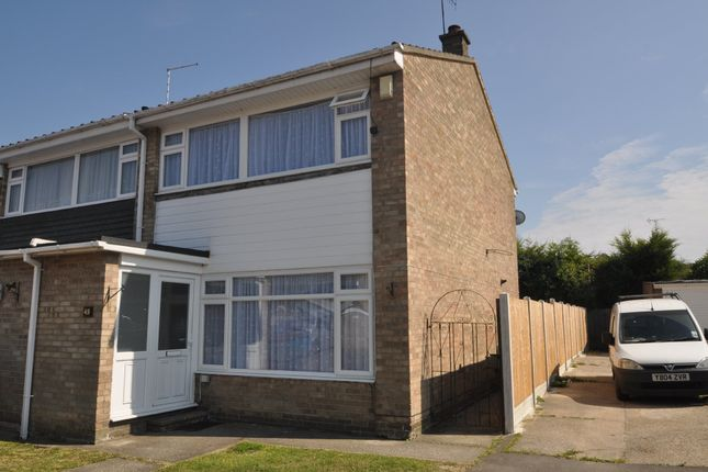 Thumbnail End terrace house for sale in Drake Close, Benfleet