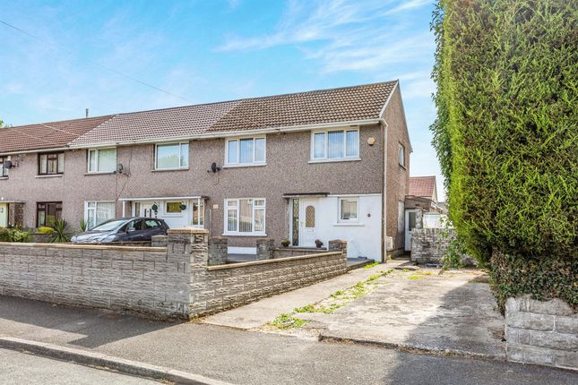 Thumbnail 3 bed end terrace house for sale in Stradling Close, Bryncethin, Bridgend