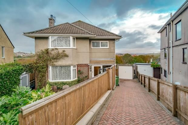 Thumbnail Detached house for sale in Eastfield Crescent, Higher Compton, Plymouth, Devon